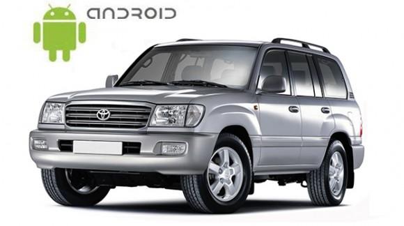 Toyota Land Cruiser 100 - пример установки головного устройства SMARTY Trend