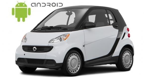 Mercedes Benz Smart - пример установки головного устройства SMARTY Trend